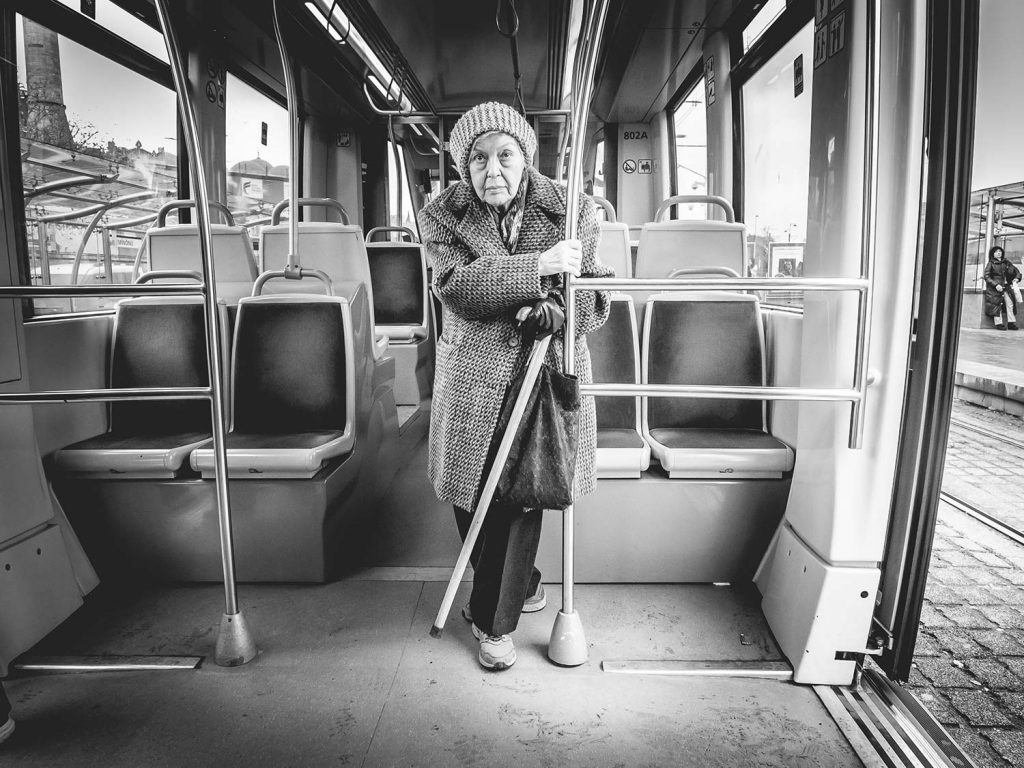Old Lady in a Metro